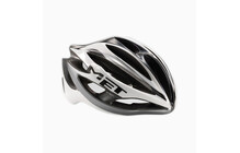 Met Road Elite Helm Stradivarius Ultimalite zilver/wit/zwart
